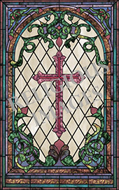 traditional cross decorative stained glass window film appliqué design