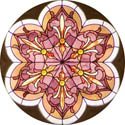 rose window decorative stained glass window film decal design
