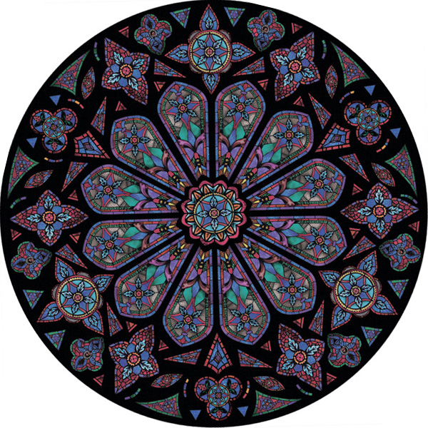 Church window film decorative window film that looks like for Rose window design