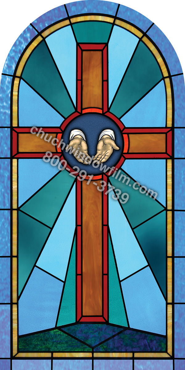 Church window film decorative stained glass window film for Custom window designs