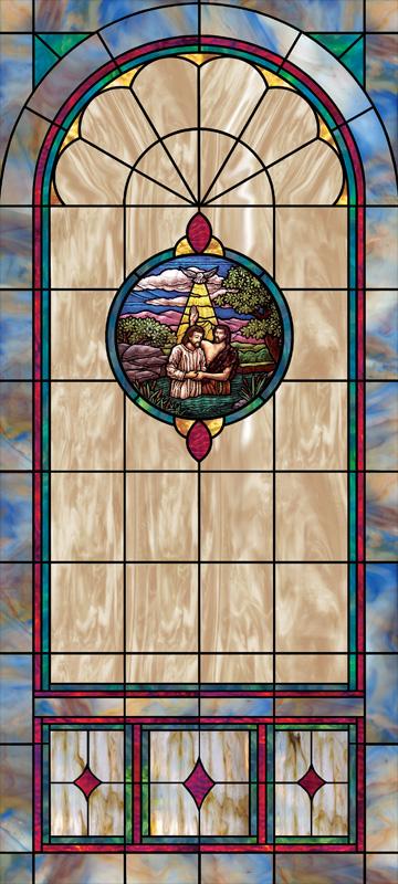 Church Window Film Decorative Stained Glass Window Film
