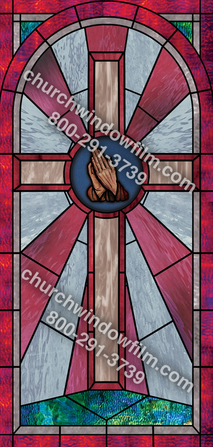 Church Window Film Decorative Stained Glass Window Film