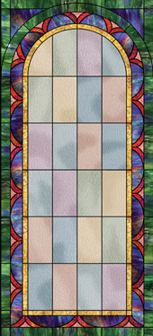 stained glass decorative church window decal film