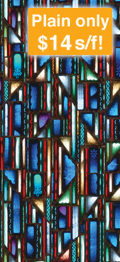 decorative stained glass window film design IN-4