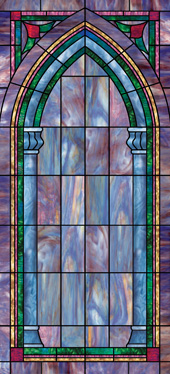 church stained glass decorative window UV film covering