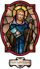 decorative stained glass window film saint