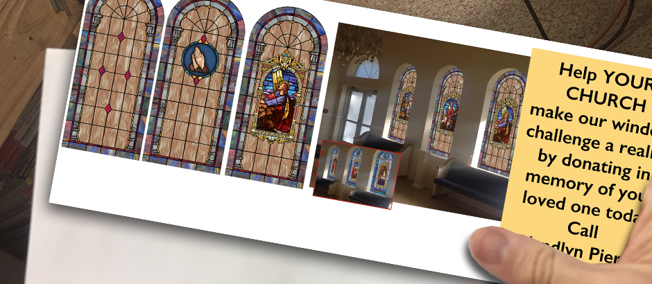 fundraising made simple from church window film