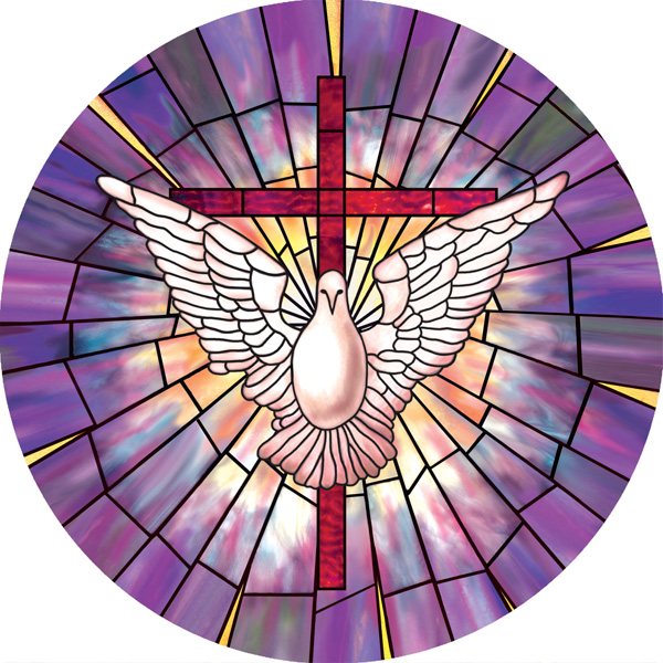 Radiant Dove Decorative Stained Gl Window Cling Film Design